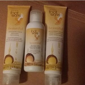 Avon Foot Works Toasted Macademia Nut 3 pc set